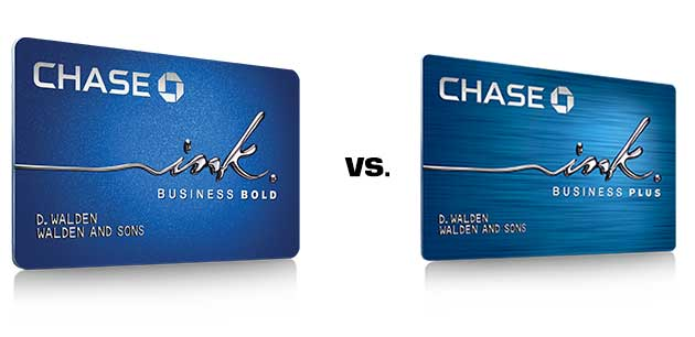 Chase Ink Bold vs. Chase Ink Plus Business Comparison