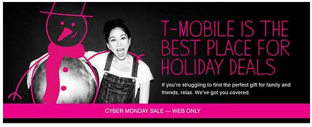 T-Mobile Cyber Monday Sale 2014