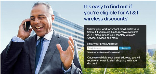 AT&T eligible wireless discounts