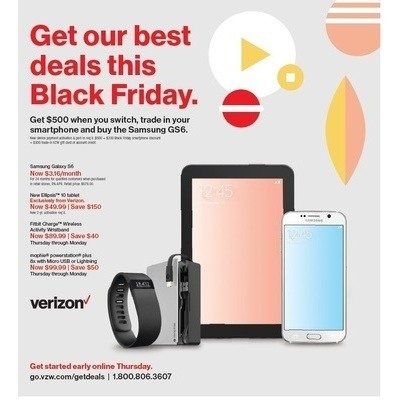 Verizon Black Friday Advertisement 2015