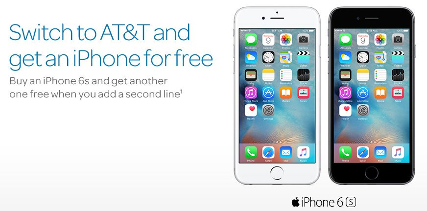 at&t free iphone switch