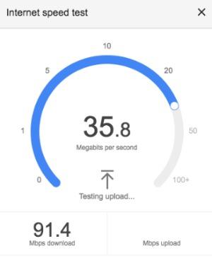 Google Internet Speed Test