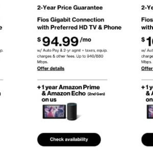 verizon fios free amazon prime